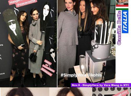 Camilla Belle torna a New York per Vera Wang !