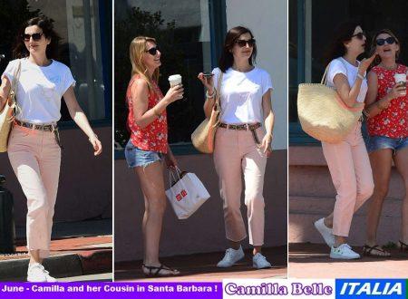 Camilla Belle vacanze a Santa Barbara con la cugina